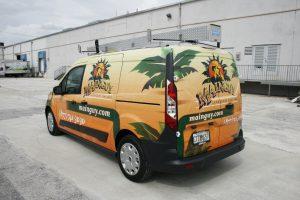 Ford Transit Connect van landscaping car wrap
