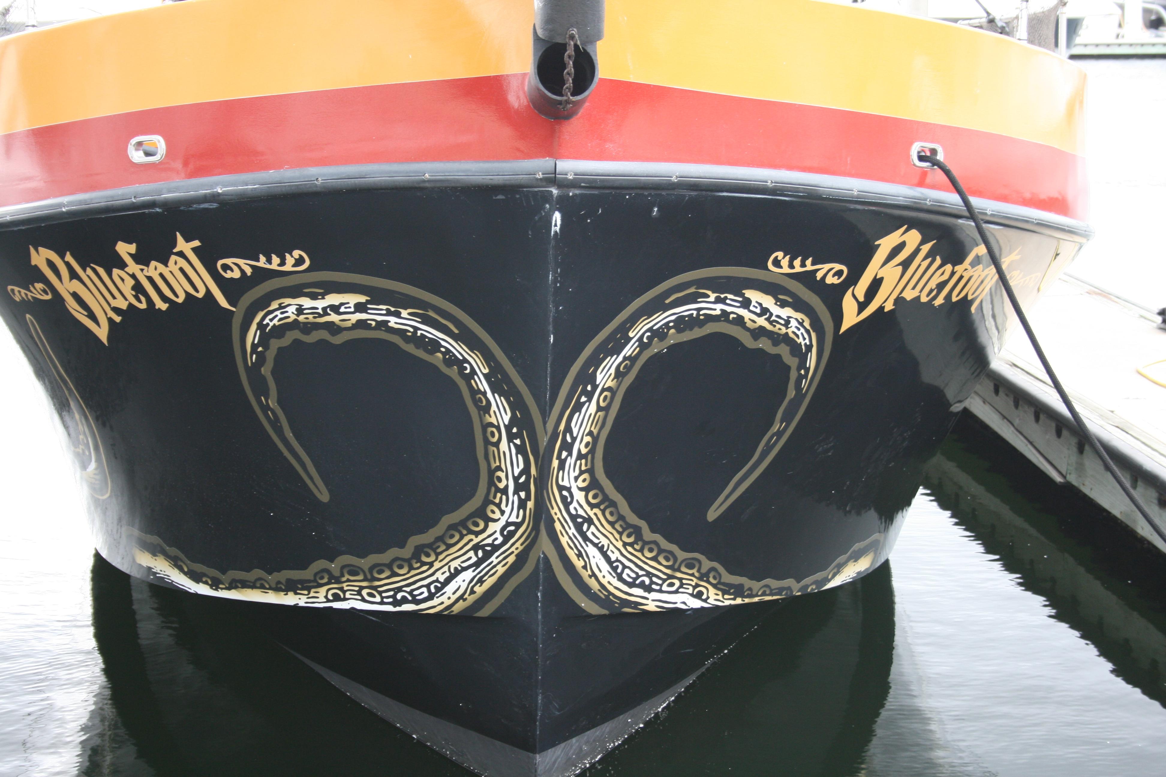 Vinyl Custom Boat Graphics Fort Lauderdale Florida Octopus - Boat decals custom graphics