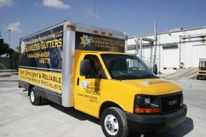 Miami box truck vinyl wrap