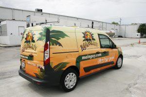 landscaping car wrap Fort Lauderdale Florida