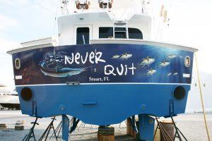 Boat Transom Vinyl Wrap West Palm Beach Florida