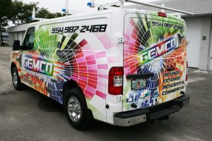 Nissan NV van vinyl wrap Hollywood Florida