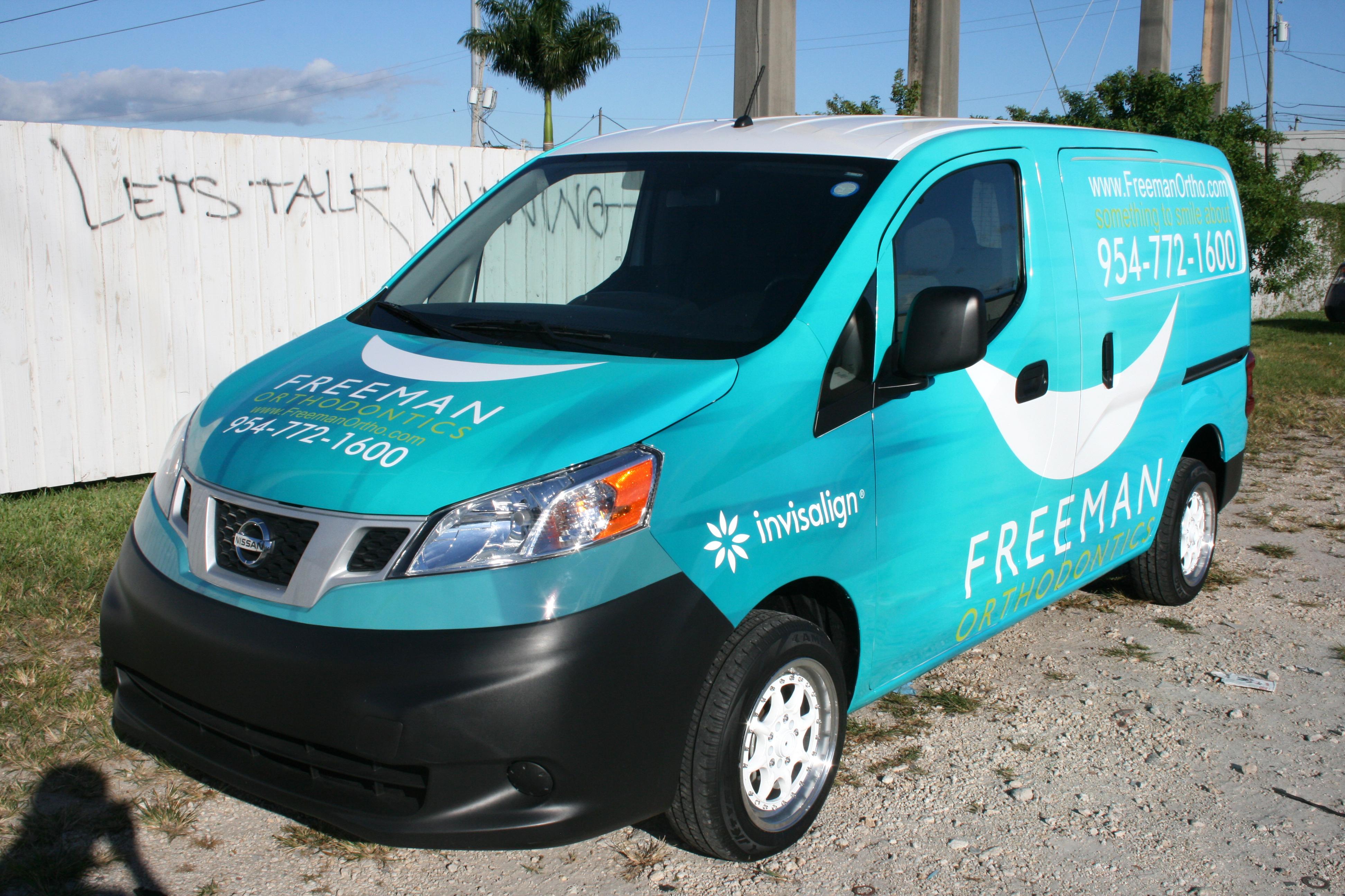 fort lauderdale nissan nv 200 van vehicle wrap advertising marketing. Black Bedroom Furniture Sets. Home Design Ideas