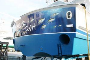 Transom Boat Wrap West Palm Beach FL