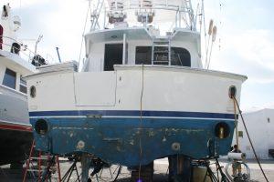 Vinyl Wrapped Yacht Transom West Palm Beach FL