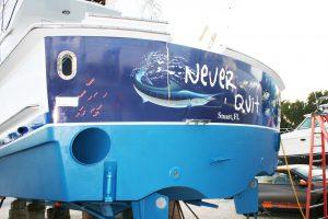 Yacht Transom Vinyl Wrap Palm Beach Gardens Florida
