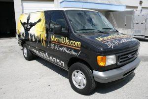 Miami DJ vehicle wrap Miami Florida