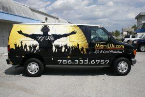 South Beach Miami vehicle wrap