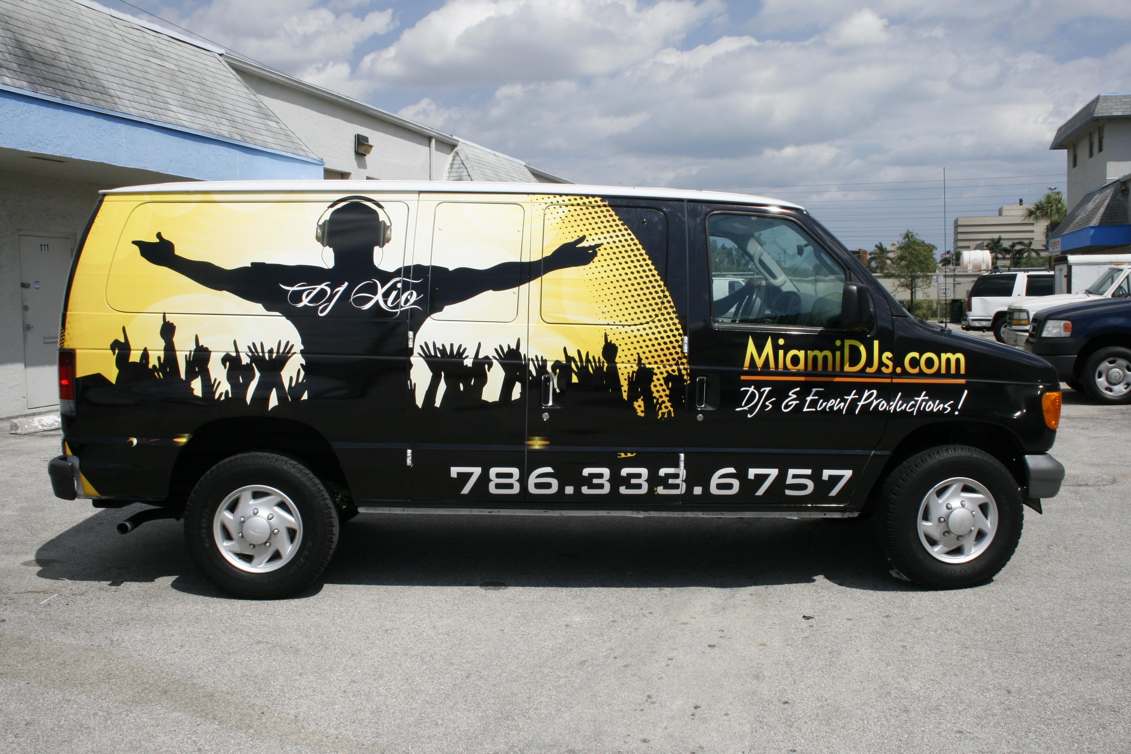 Car Wrap Vinyl >> Vinyl Wrap Advertising Commercial Cargo Van South Beach Miami Florida