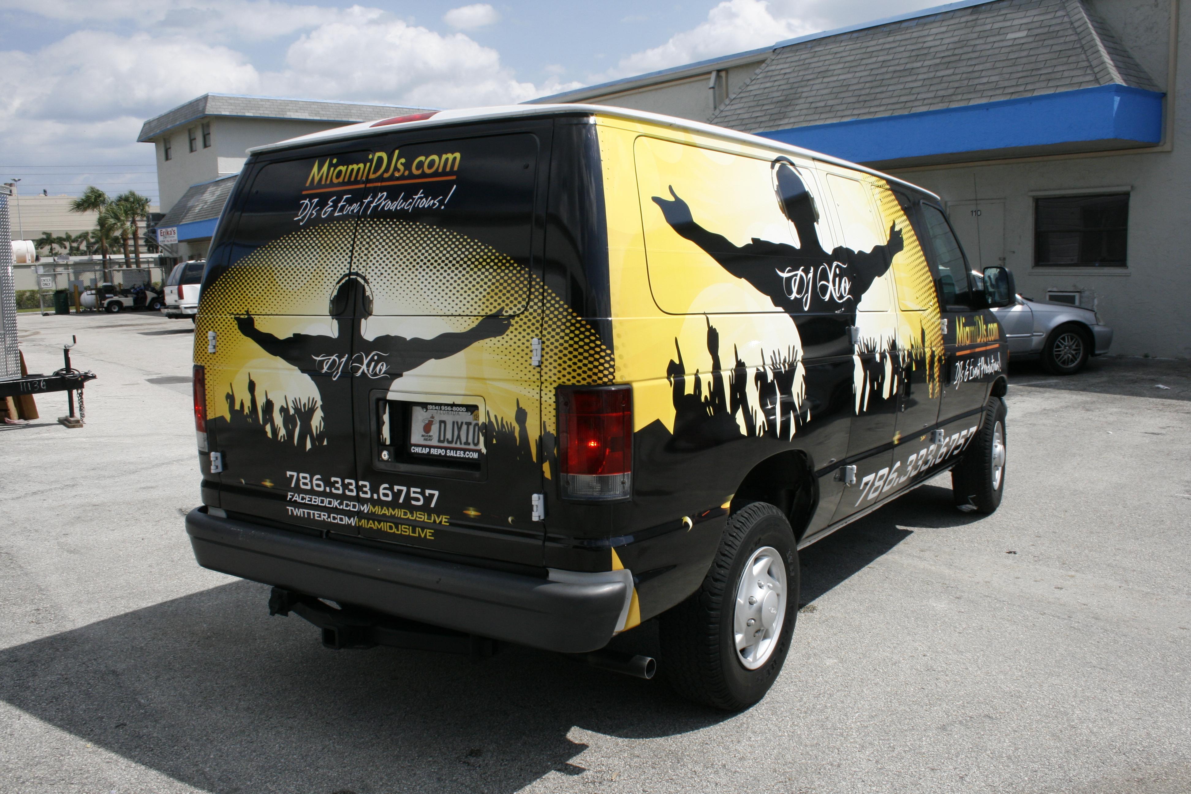 Vinyl Wrap Advertising Commercial Cargo Van South Beach