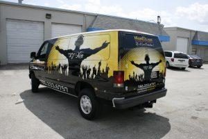 Van wrap South Beach Miami