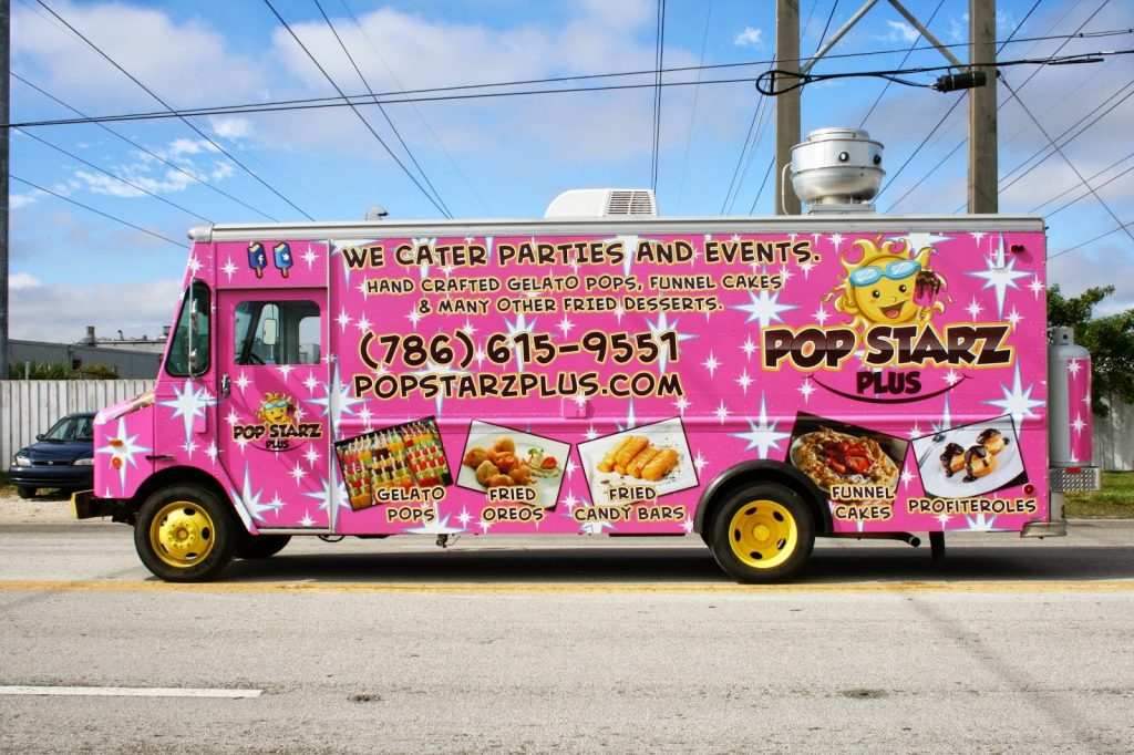 Miami florida food truck wraps graphics design vinyl for Food truck design software