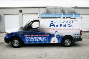 HVAC vehicle wrap Delray Beach Florida