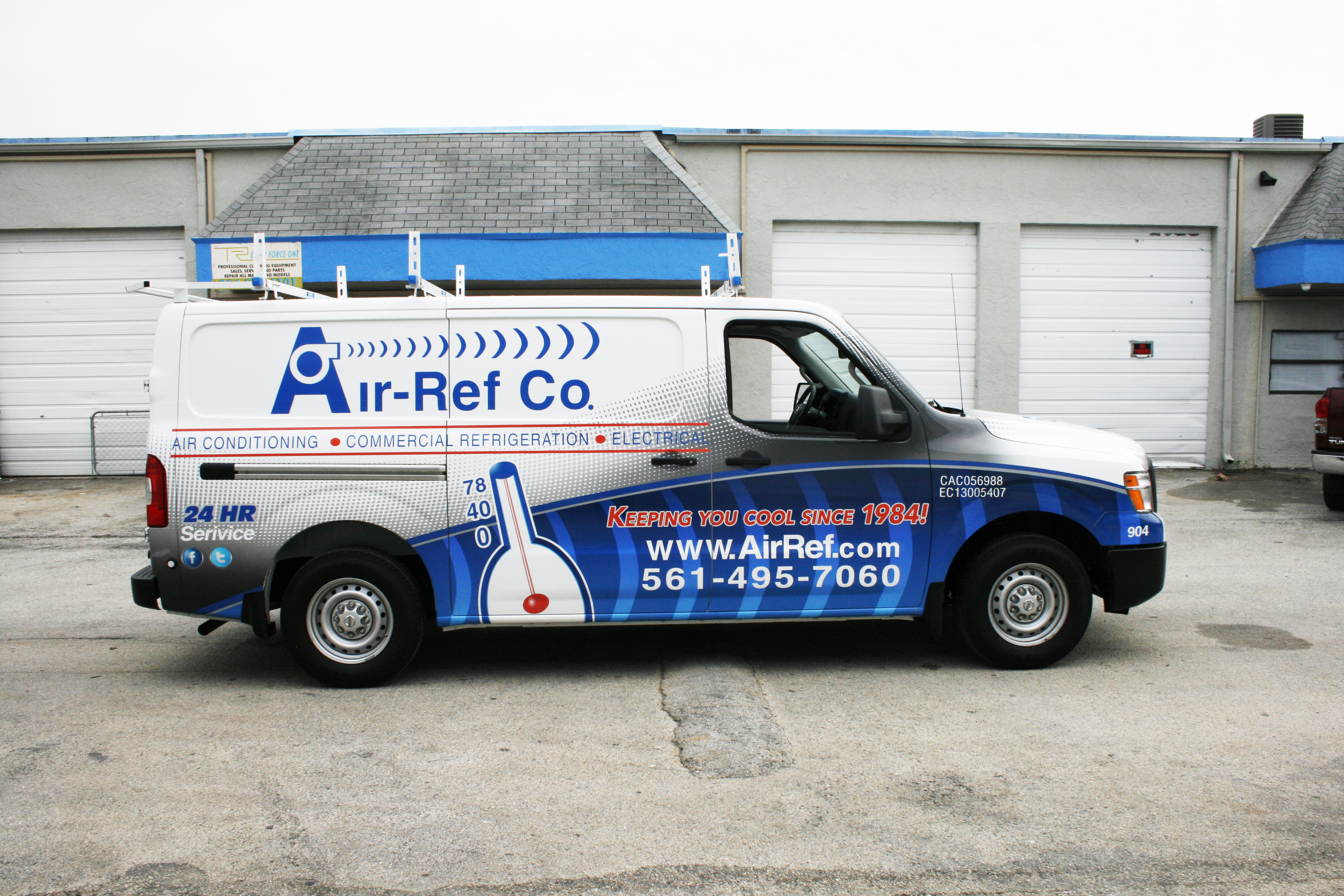 Air Conditioning Hvac Commercial Graphic Design 3m Vinyl