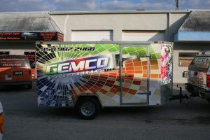 Gemco Painting trailer vinyl wrap