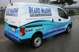 Nissan NV 200 vinyl wrap Davie Florida