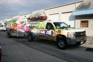commercial painter trailer truck wrap