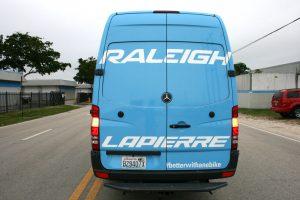 vinyl wrapped Sprinter van Miami