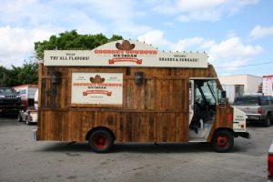 Coconut Cowboy food truck car wrap
