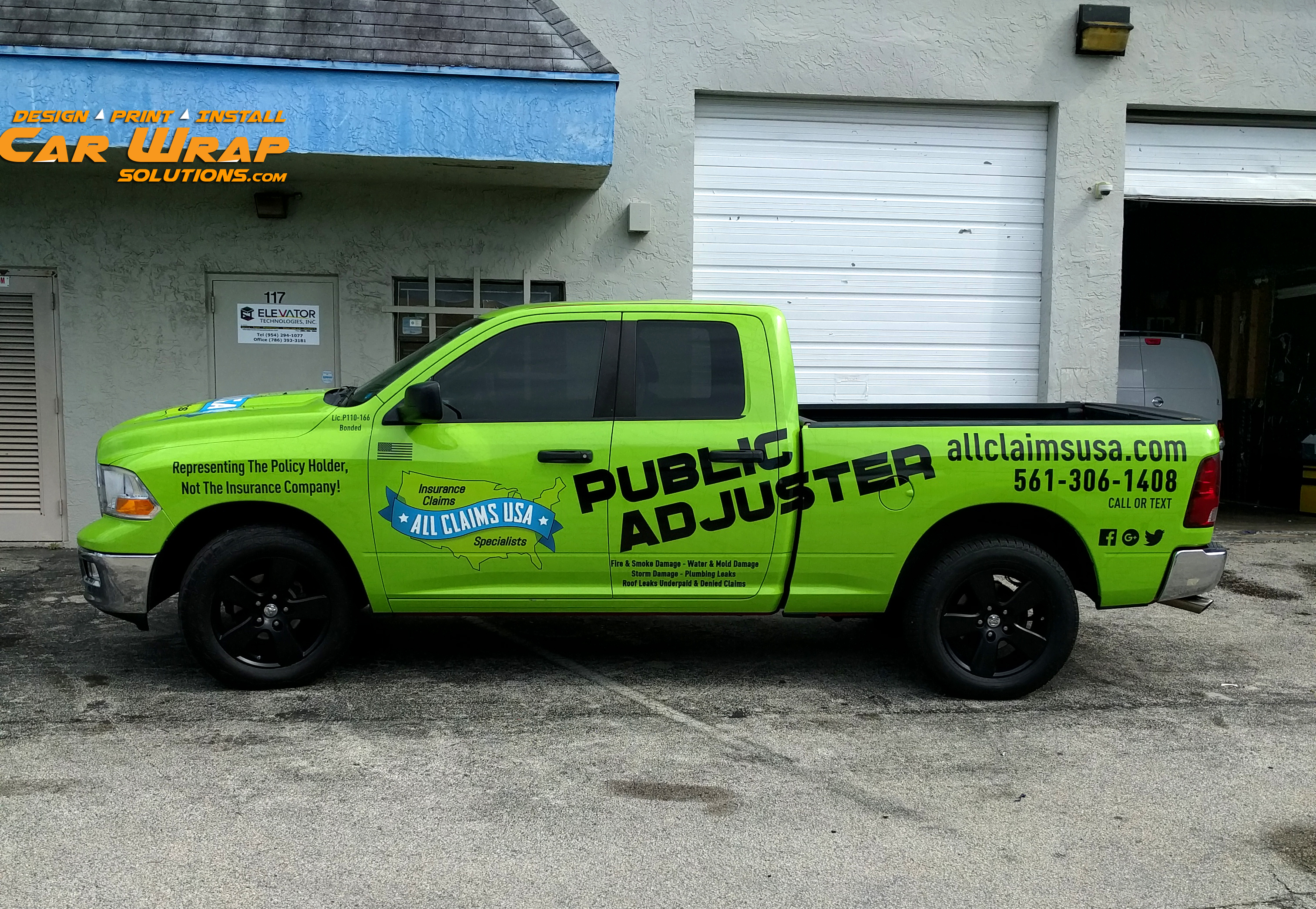 Ram Truck Wrap Advertising For All Claims Usa By Car Wrap