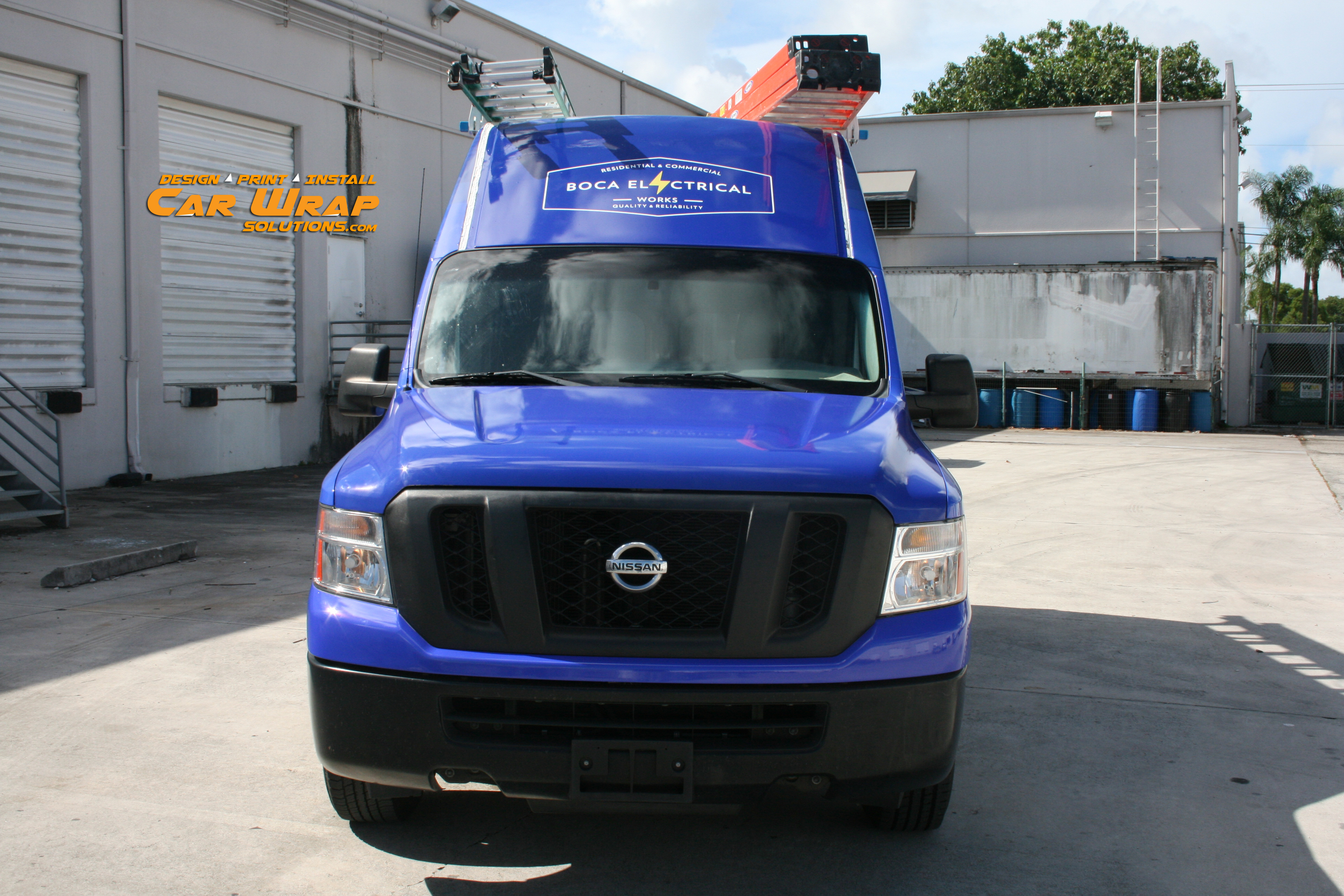 Car Wrap Solutions Nissan NV Van Car Wrap Boca Raton Florida