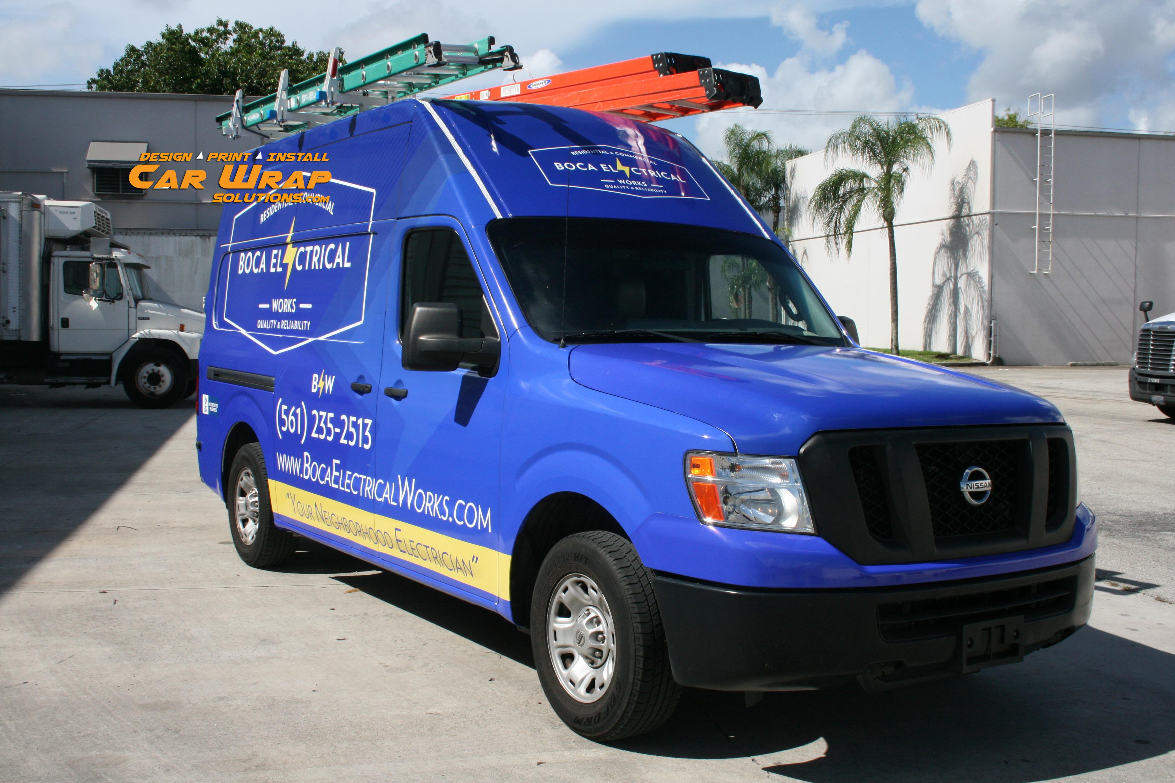 Car Wrap Solutions Nissan Nv Van Car Wrap Boca Raton Florida