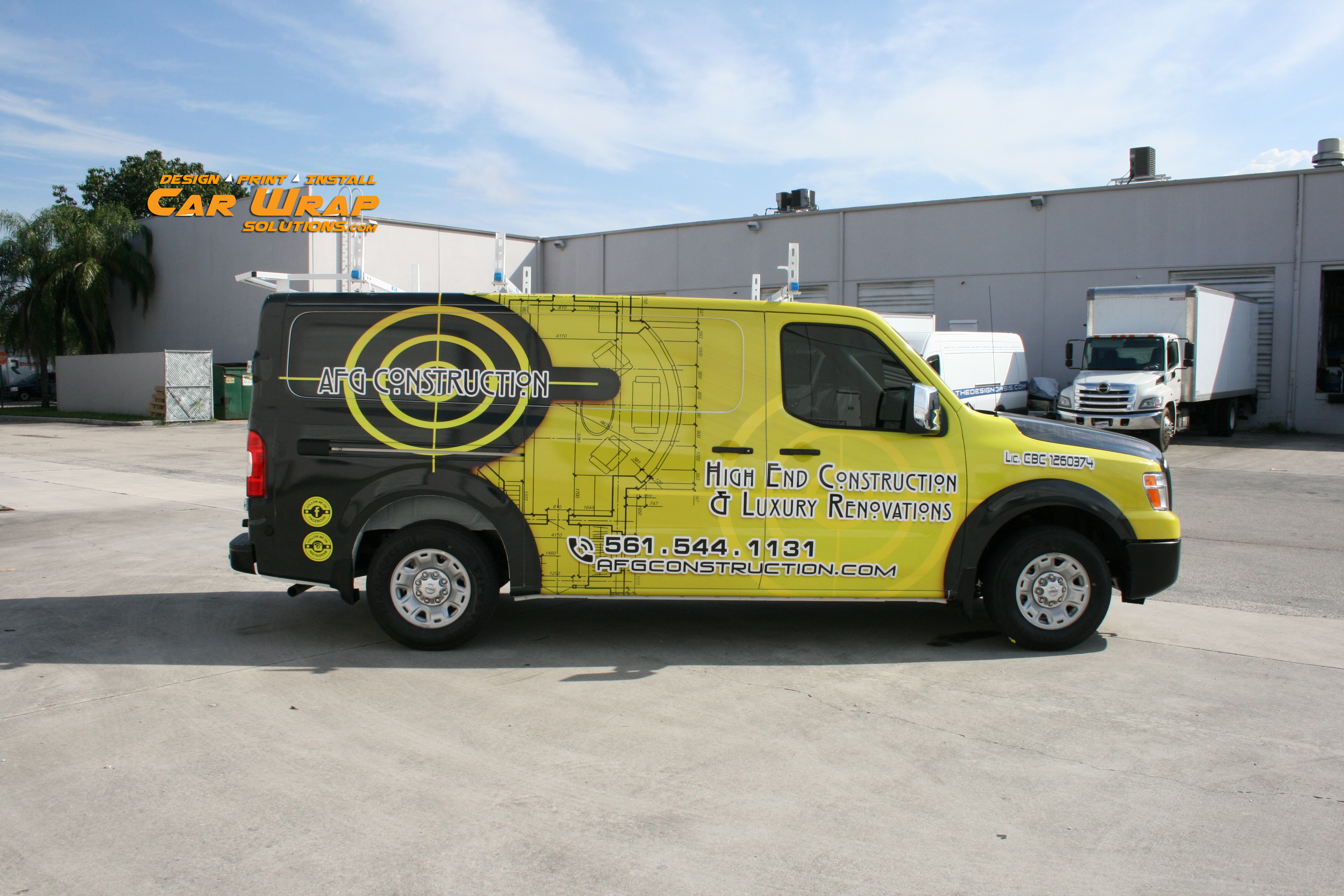 New Nissan Nv Van Vehicle Wrap Boca Raton Florida Afg