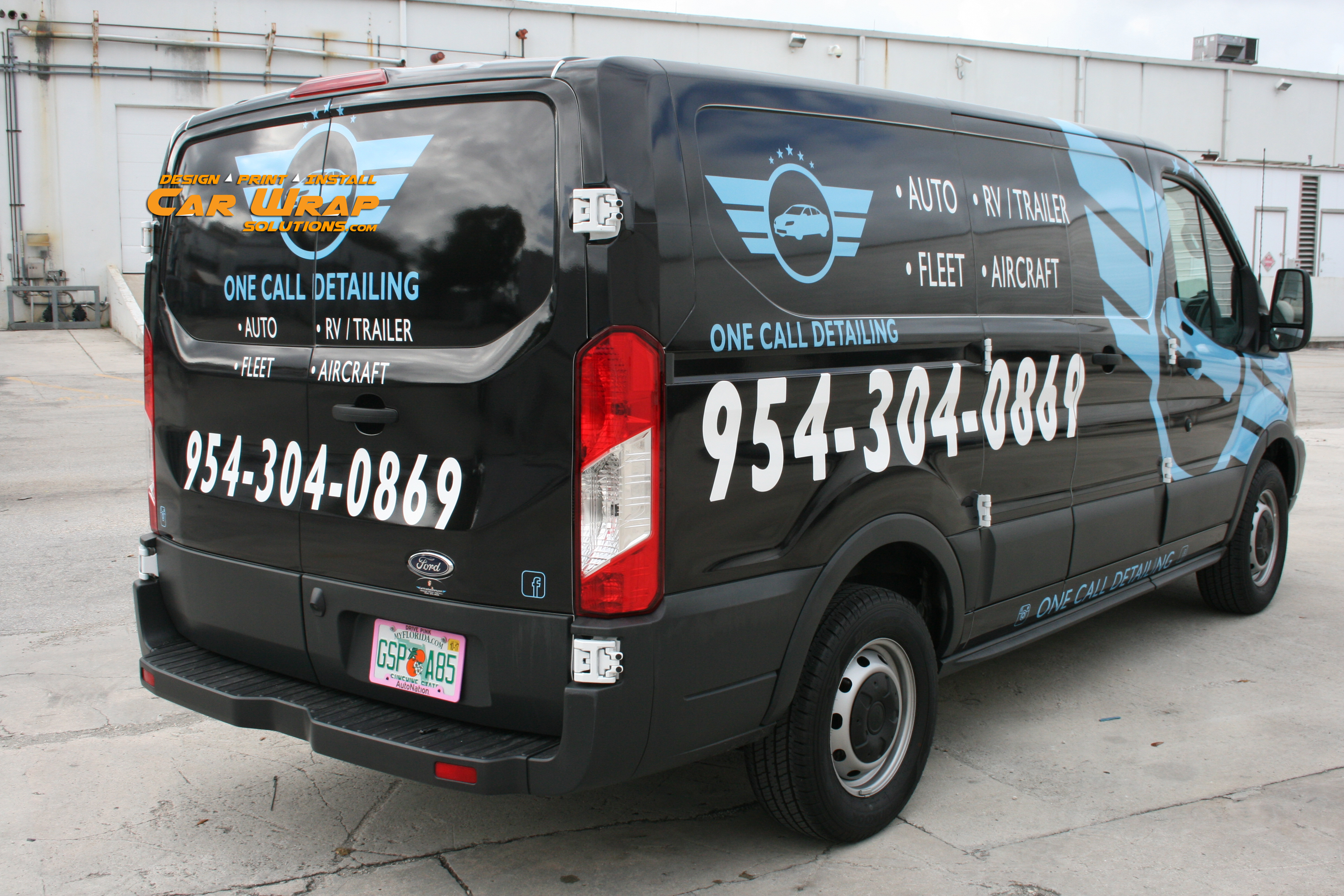 Ford Transit 250 >> Ford Transit Van Local Small Business Wrap Advertising ...