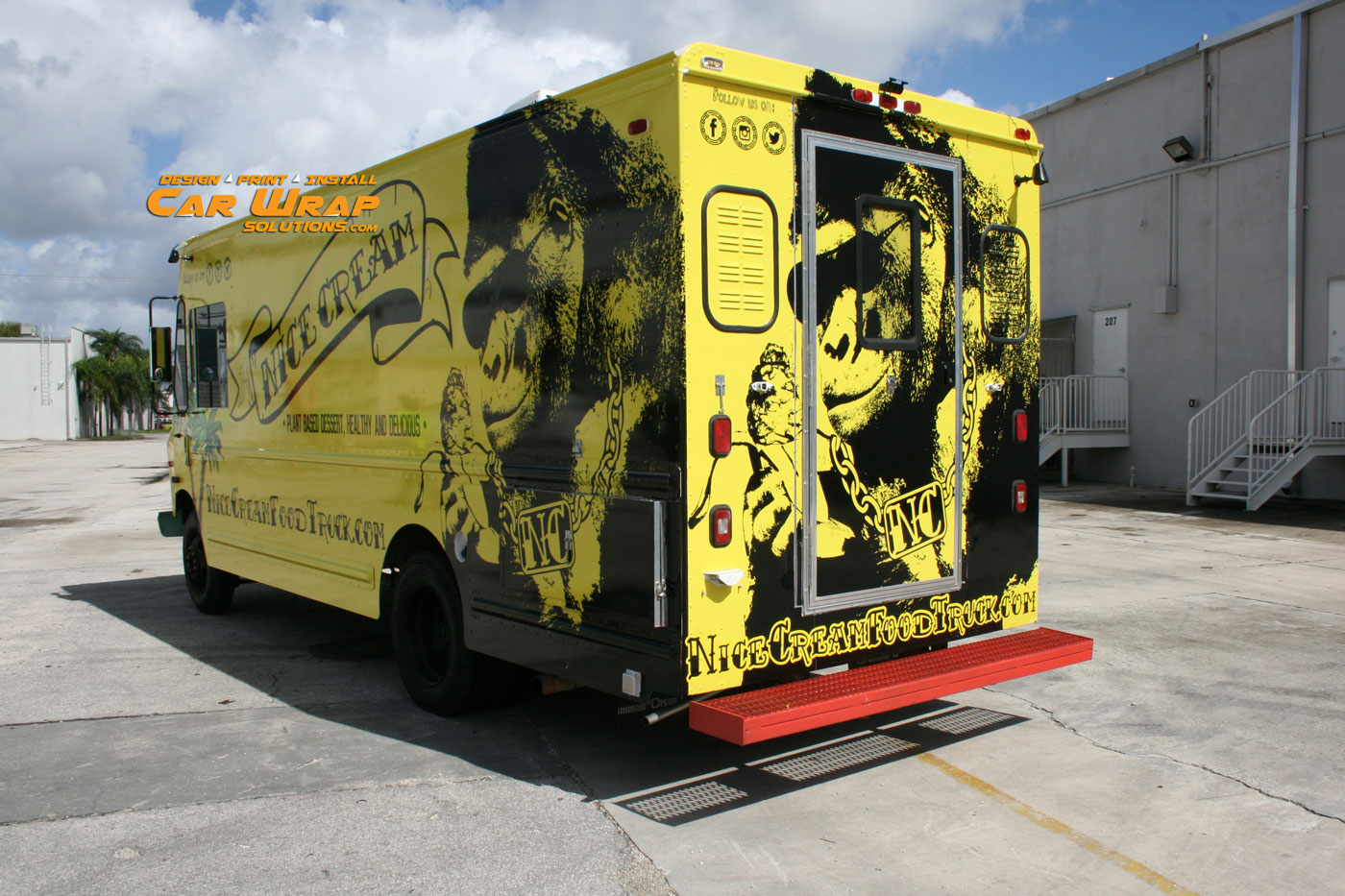 Car wrap solutions car vehicle wrap fort lauderdale for How to design a food truck