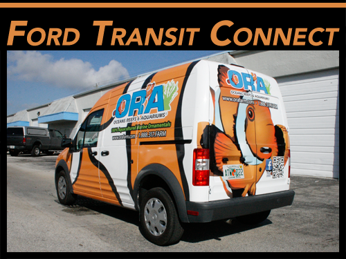 Fort Lauderdale, Miami, Palm Beach Gardens Ford Transit Connect Van Wrap Graphics
