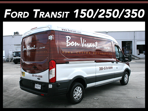 Ford Transit 150, 250, 350 Commercial Van Wraps Advertising