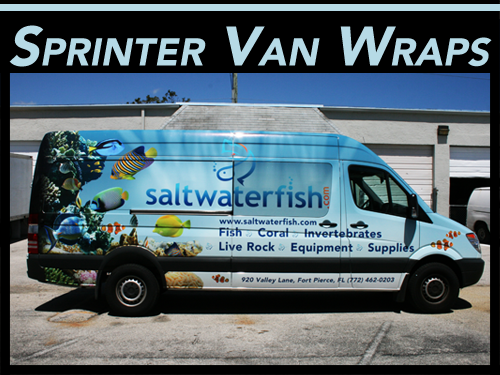 Freightliner, Mercedes Benz, Dodge Sprinter Commercial Van Wraps Pompano Beach, Miami, Fort Lauderdale, Palm Beach Gardens, Florida