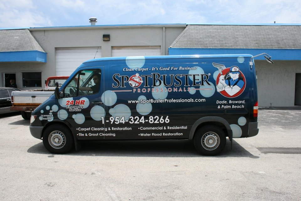 Mercedes Benz Sprinter >> Carpet Cleaning vehicle wrap, Fort Lauderdale