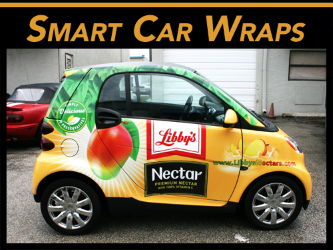 Fort Lauderdale, Miami, West Palm Beach, FL Smart Car Vinyl Wraps