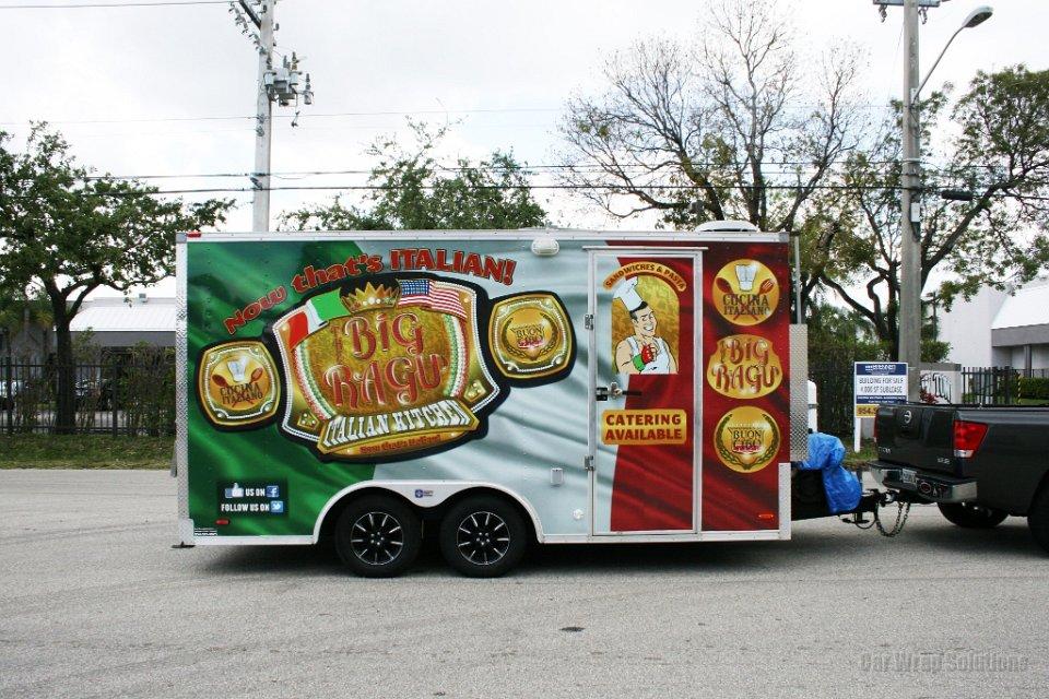 The Big Ragu Italian Food Truck Trailer Wrap Fort
