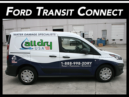 Fort Lauderdale, Miami, Palm Beach Gardens Ford Transit Connect Van Vinyl Wraps Graphics