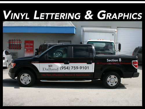 Fort Lauderdale, Miami, & West Palm Beach, FL Vinyl Cut Lettering, Graphics & Decals