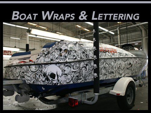 Fort Lauderdale, Miami, Palm Beach Gardens Vinyl Boat Wraps