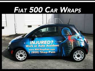 Fort Lauderdale, Miami, West Palm Beach, Boca Raton, FL Fiat 500 Car Vinyl Wraps