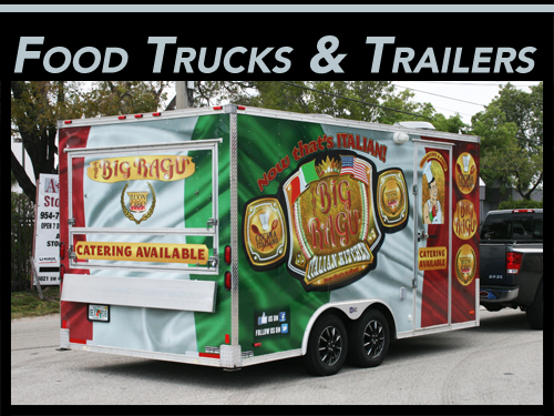 Miami, Fort Lauderdale, West Palm Beach, FL Food Truck & Concession Trailer Vinyl Wraps
