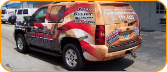 Parkland Florida, advertising car wrap, wrap sign for 107.9 WIRK CBS Radio
