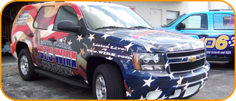 West Palm Beach, SUV wrap, SUV vehicle wrapping for 107.9 WIRK CBS Radio
