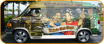dj vehicle wrap for Babalu Bad Boyz in Ft Lauderdale, vehicle wrapping for the dj industry
