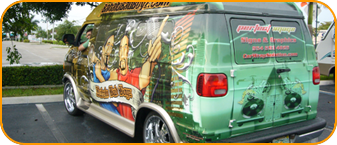 Fort Lauderdale dj car wrap for Babalu Bad Boyz