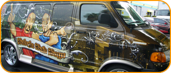 fort lauderdale promotional car wrap for mobile DJ