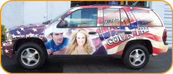 Custom vinyl radio station wrap, West Palm Beach, Florida