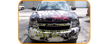 radio station wrap page/Radio Station Vehicle Wrap, radio station car wrap for Sunny 104.3 CBS Radio in West Palm Beach