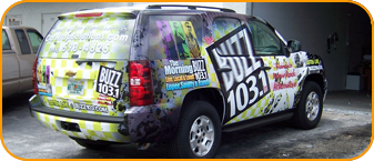 Custom SUV vehicle wrap, West Palm Beach, Florida
