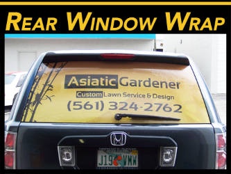 Fort Lauderdale, Miami, West Palm Beach Rear Window Wrap Graphics