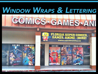 Fort Lauderdale, Miami, West Palm Beach, FL Vinyl Window & Wall Wraps & Lettering